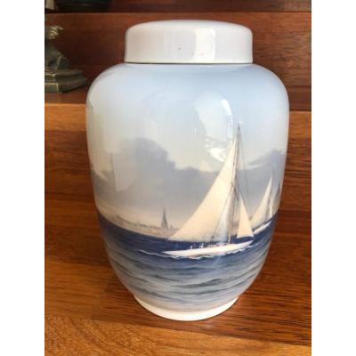 Pot Couvert Porcelaine Royal Copenhagen Denmark