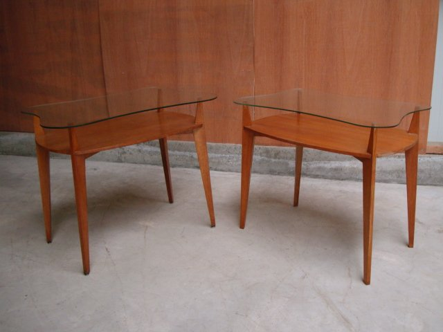 Pair Of Presentation Tables 1950-60