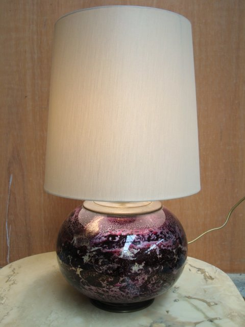 Lampe en verre 1970