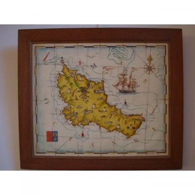 Carte de Belle-ile par Pierre Cadre