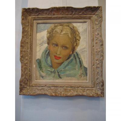 """Portrait de femme """" Mégève-46"""""""