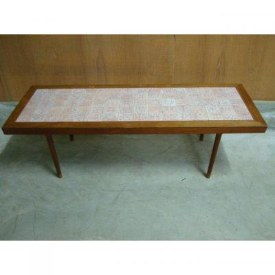 Coffee Table 1950 Ceramic Tiles