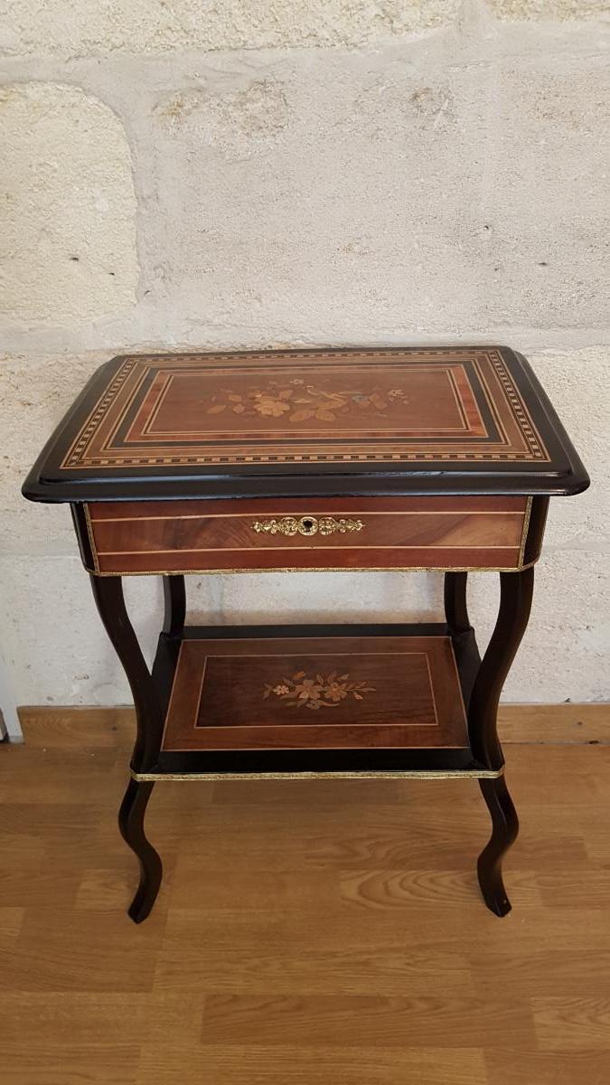 Table à ouvrage d'époque Napoléon III