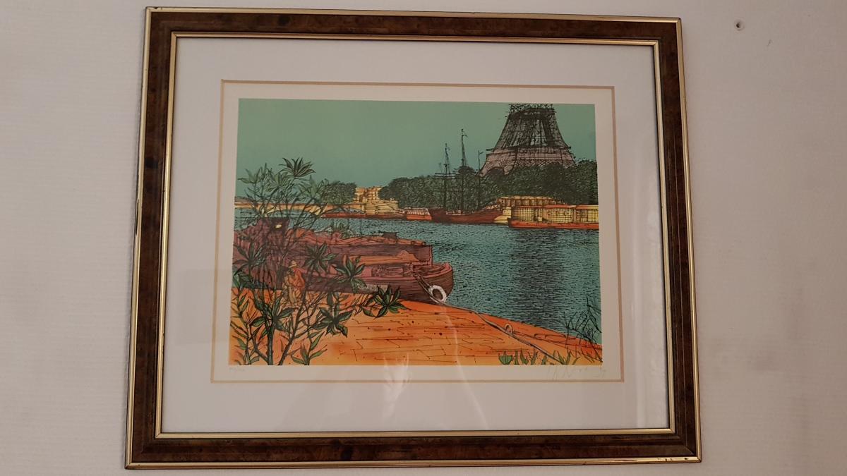 Lithograph By Jean Carzou