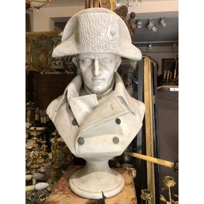 Buste En Marbre De Napoléon