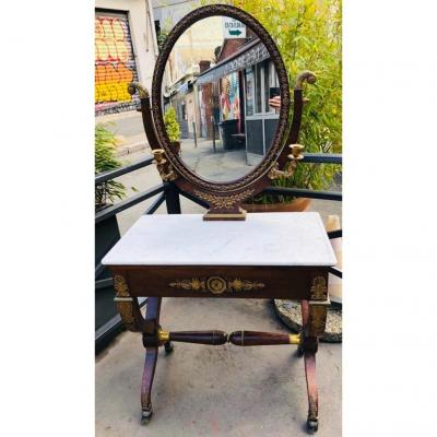 Dressing Table In Rosewood With Rich Bronze Ornamentation