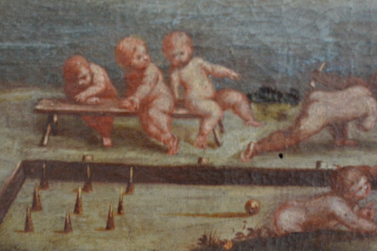 Scène de jeux de chérubins,  XVIIIe -photo-2