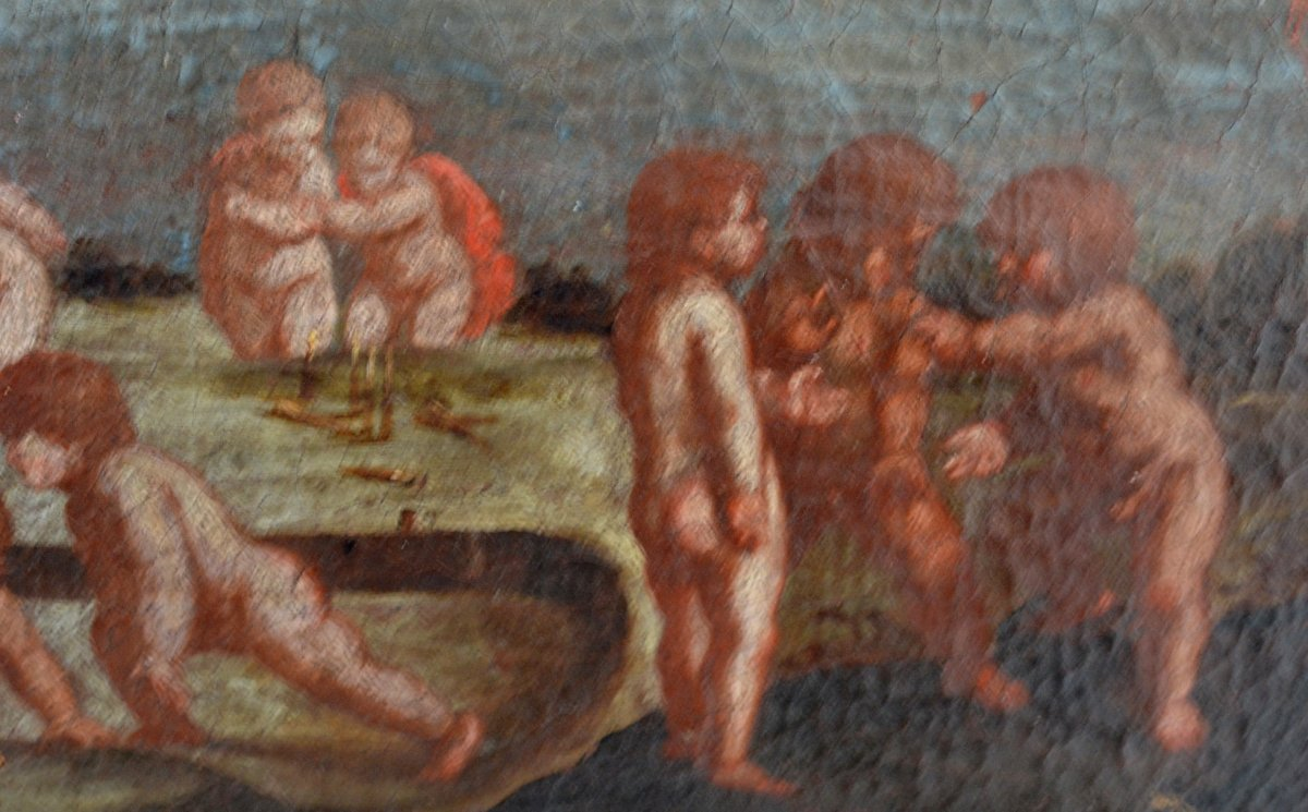 Scène de jeux de chérubins,  XVIIIe -photo-4