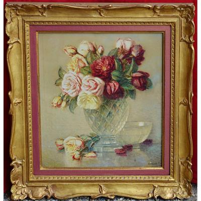 Tableau de vase aux fleurs de Rosenstock