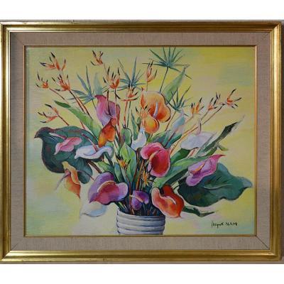 Vase aux fleurs de Jacques Nam