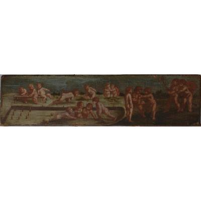 Scène de jeux de chérubins,  XVIIIe