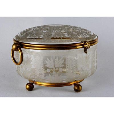 Boîte  en cristal  Napopléon III