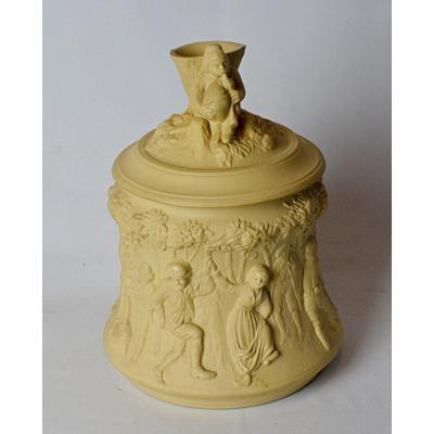 Sarreguemines Sandstone Tobacco Pot