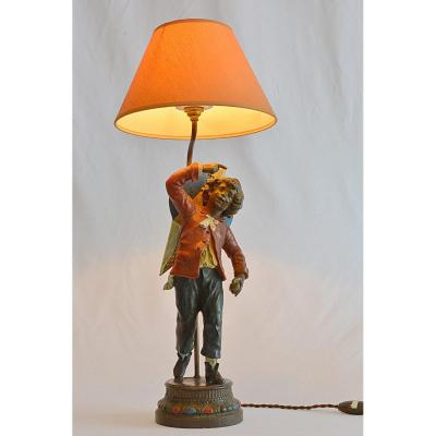 Lamp Young Boy With Kite