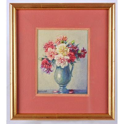 Vase de fleurs par Isodore Rosenstock