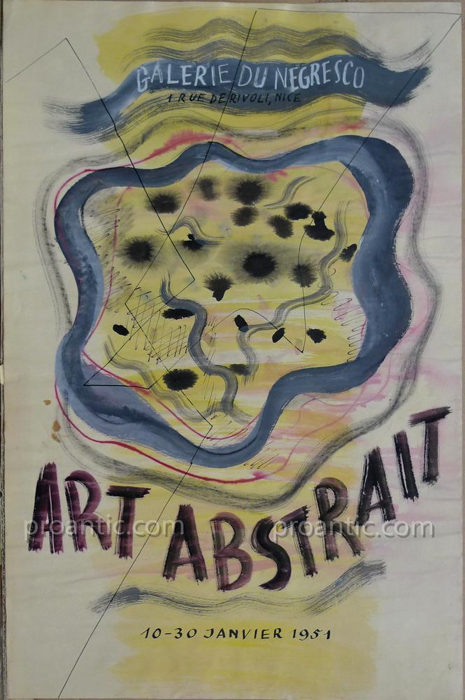 "Staritsky Anna (1908-1981) ""Art Abstrait,"