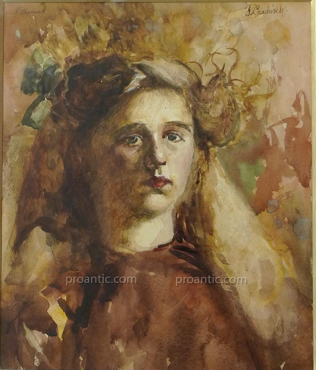 "Chadwick Francis Brook (1850-1943) ""Portrait"" Americain"