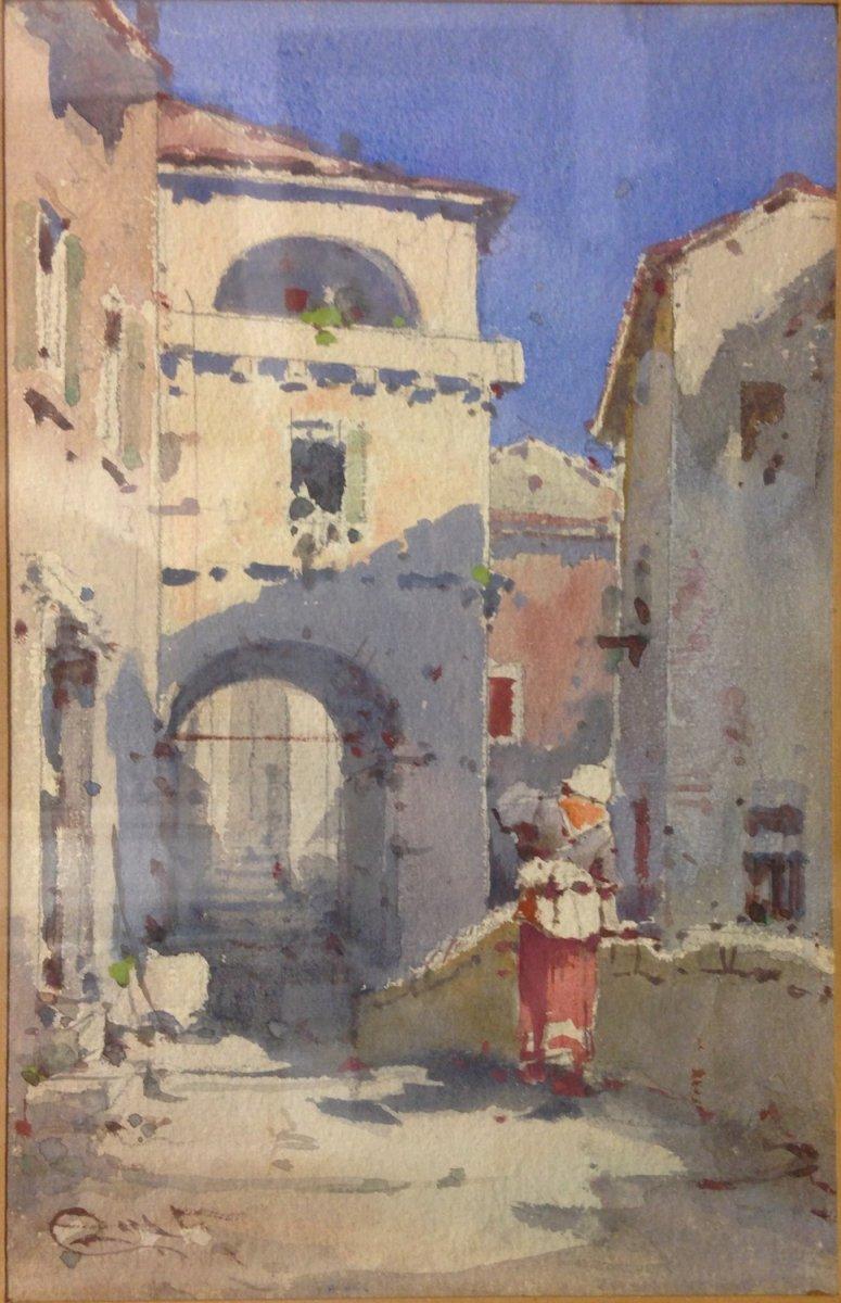 """Emmanuel Costa (1833-1921): """"Rue Animée"""""""