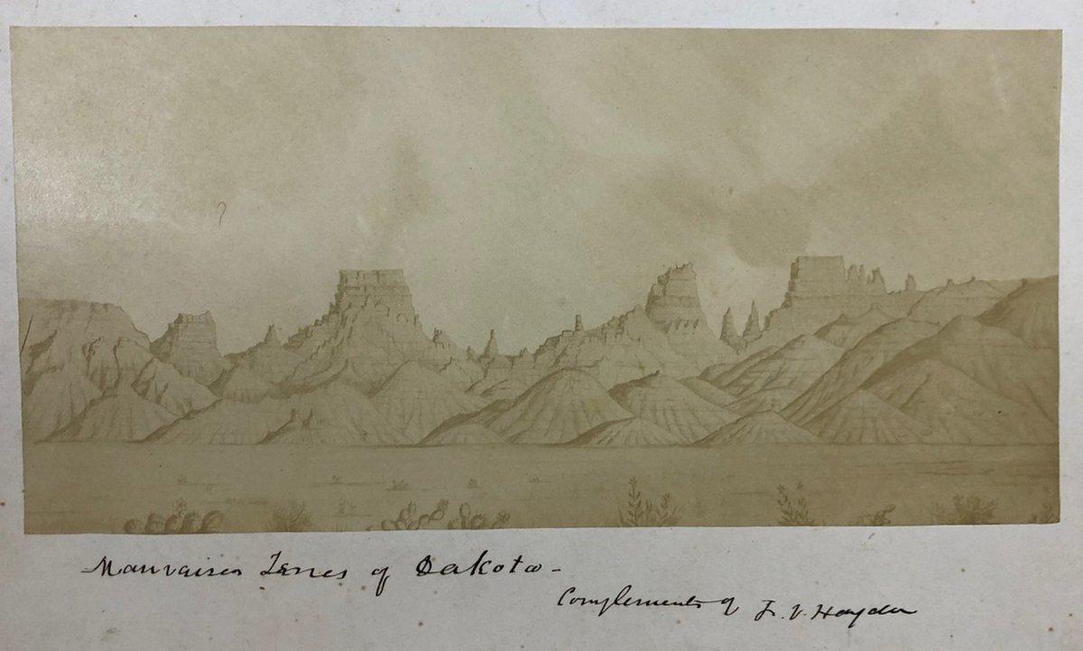 """Ferdinand Vandeveer Hayden (1829 - 1887) """"badlands Of Dakota"""""""