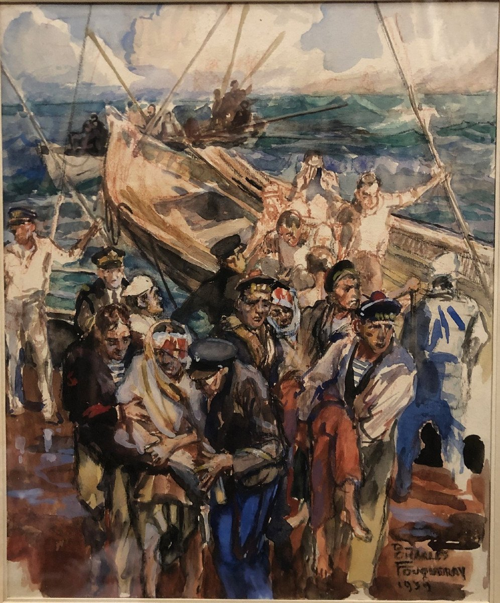 """Charles Fouqueray (1869-1956): """"sea Salvage"""" 1939"""