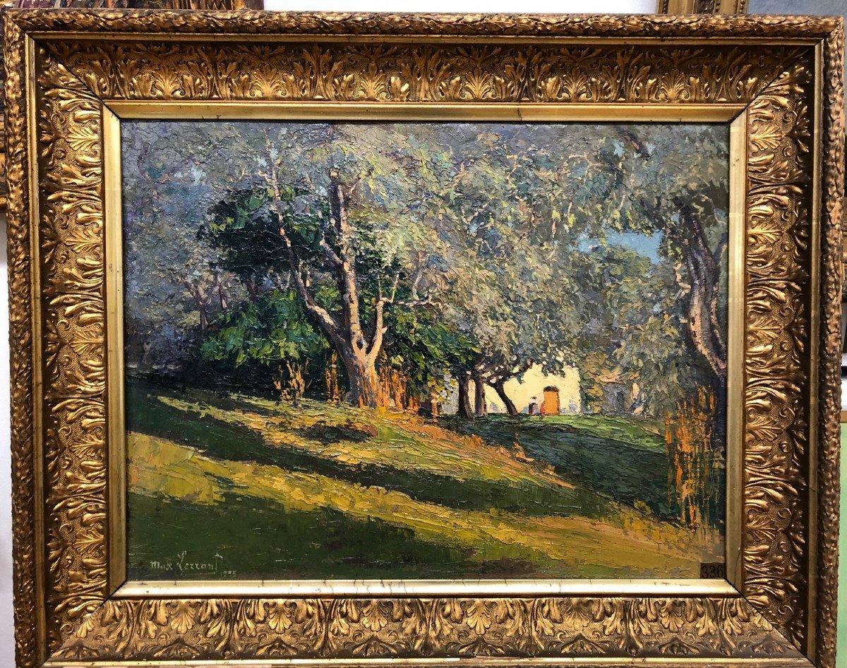 "Max Lerrant (1875-1955): ""mas Under The Olive Trees, Grasse"""