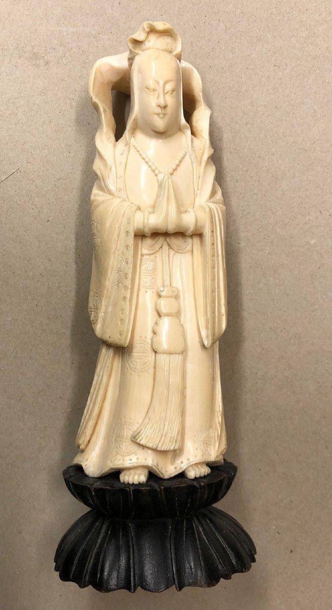Divinity China Or Japan Ivory XIXth Century