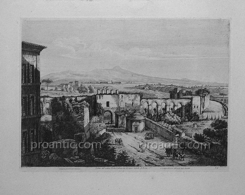 Rome Veduta Dell'antica Porta Latina Con Le Antiche Mura Di Roma