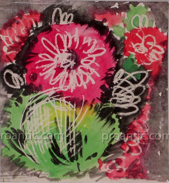 """GEN PAUL (1895-1975) """"Fleurs"""" expressionniste"""
