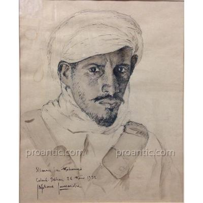 "Lamarche Stéphane (1891-1963) ""Sliman Ben Mohamed"" Algerie"