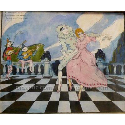 """ELLER (Lucien Roudier dit) """"Danse"""" (Né à Marseille en1894)"""