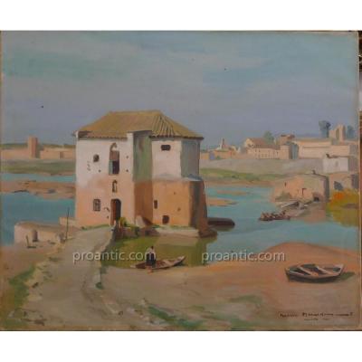 "MENARDEAU Maurice (1897-1977)  ""Cordoba"" Espagne"