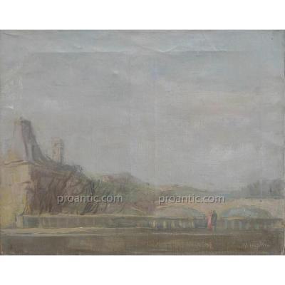 "SCHÖTTLER Walter (1904-1978) ""Vue de Paris"" Allemagne"