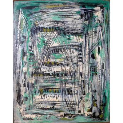 """Levin Joseph (1894-1979) Ecole de New York """"Composition"""""""