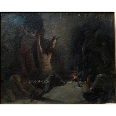 """GILLET Numa-François (1868-1940)  """"Le prisonnier"""""""