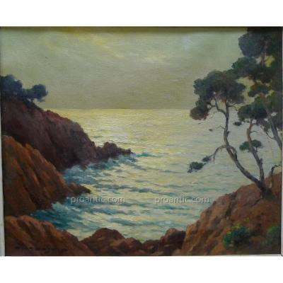 "KEULÉYAN-LAFON Jean (1886-1973) ""Bord de mer"" Armenien"