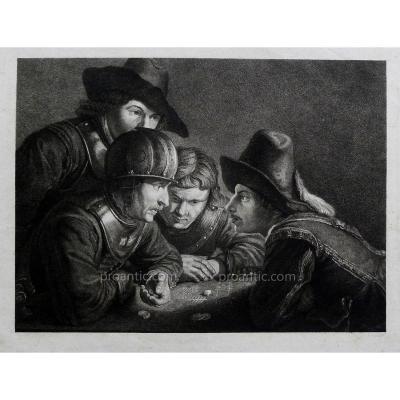 """Koch Friedrich (1771-1832) """"Les joueurs de dés"""""""