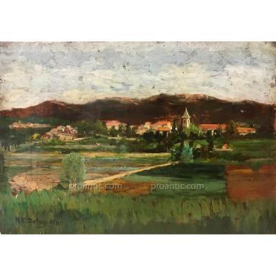 "DELPY Hippolyte-Camille (1842-1910) ""Paysage"""