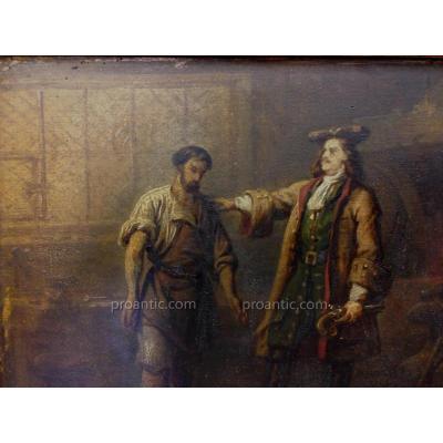 """Steuben (attrib.) Carl August (von) (1788-1856) """"le Tzar Et Le Forgeron"""""""