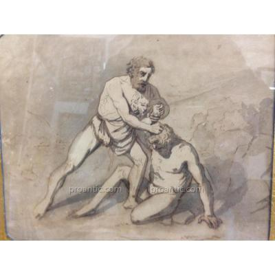 "Italian School XVIII ""the Fight Of Hercules"""