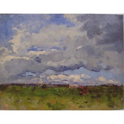 """MAHOKIAN OU MAKOKIAN Wartan (1869-1937)  """"Paysage en Crimée"""""""