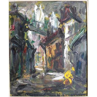"""Vagh Weinmann Maurice (1899-1986)   """"village Street"""""""