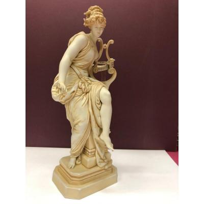 """Biscuit From La Manufacture Muller In Rudolstadt, (germany) """"woman With A Lyre"""""""