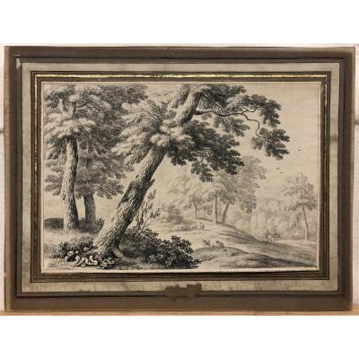 """Jan Van Der Meer (1656-1705) Attributed - """"sheep In The Undergrowth"""""""