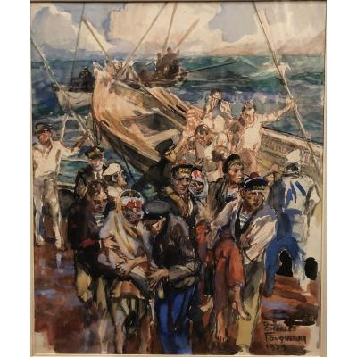 "Charles Fouqueray (1869-1956): ""sea Salvage"" 1939"