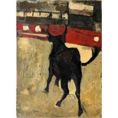 "Michel Bepoix (1937): ""bull In The Arenas Of Vallauris""; Corrida, Bullfighting"