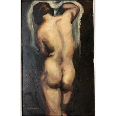 "René Pierre De Olinda (1893-?): ""naked Back With Arms Raised"""