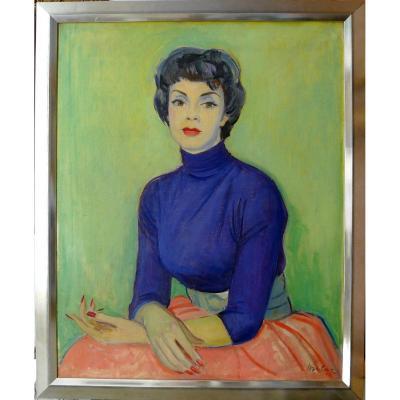 "Milivoy Uzelac (1897-1977), Croatian: ""lily Palmer, 1954"""