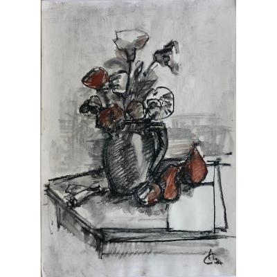 "CIUCURENCU Alexandru (1903-1977) ""Nature morte"" Roumanie"