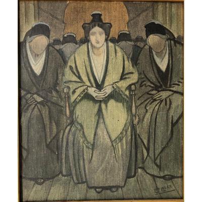 """Lelée Léopold (1872-1947): """"arlesiennes"""""""