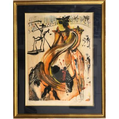 "Dali (salvador) (1904-1989): ""butterfly Bullfighting""; Original Lithograph"